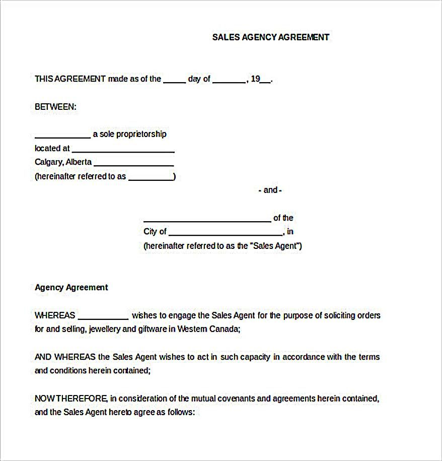 Sample Sales Agreement Template  Reliable Sales Agreement