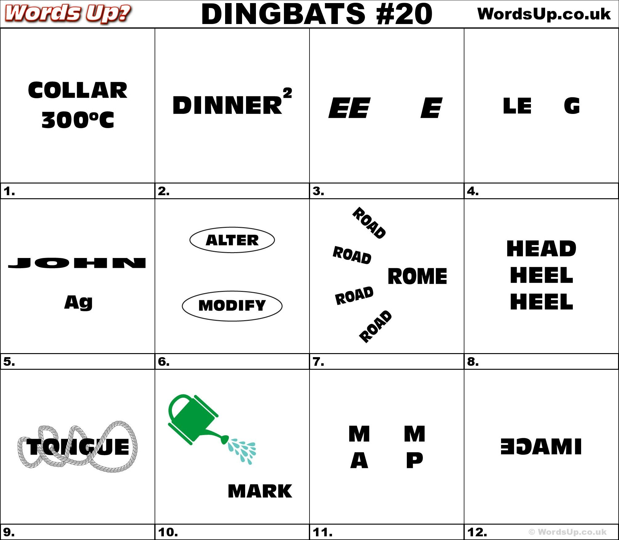 Dingbat Amp Whatzit Rebus Puzzles Dingbats Whatzits Rebus Puzzle Game Brainteasers