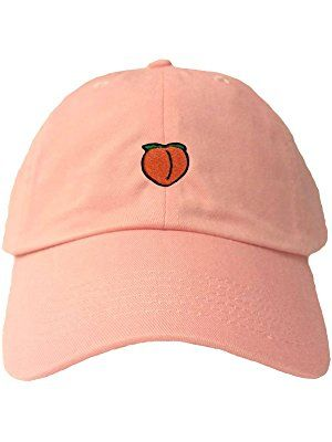 1b4550469206bc Adult Peach Emoji Embroidered Dad Hat. Adult Peach Emoji Embroidered Dad  Hat Dad Hats ...