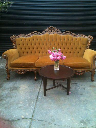 Gorgeous Vintage French Louis Chesterfield Gold Velvet Sofa Lounge Paris Only Lounge Sofa Velvet Sofa Home Styles