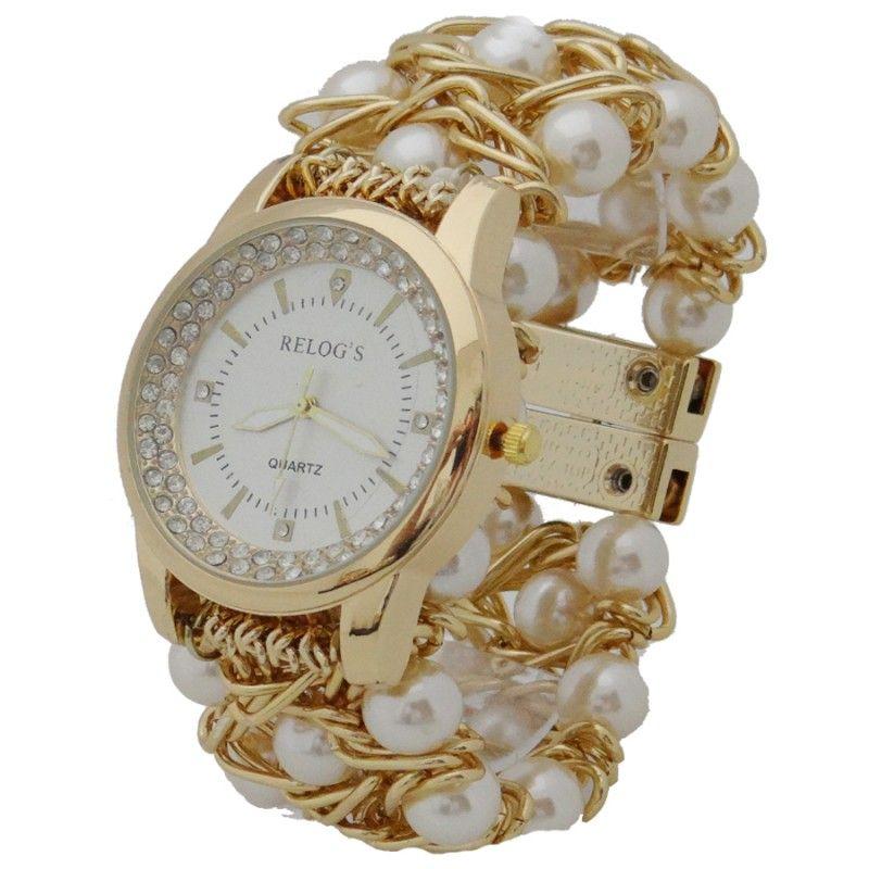 Relógios com Pérolas em ABS