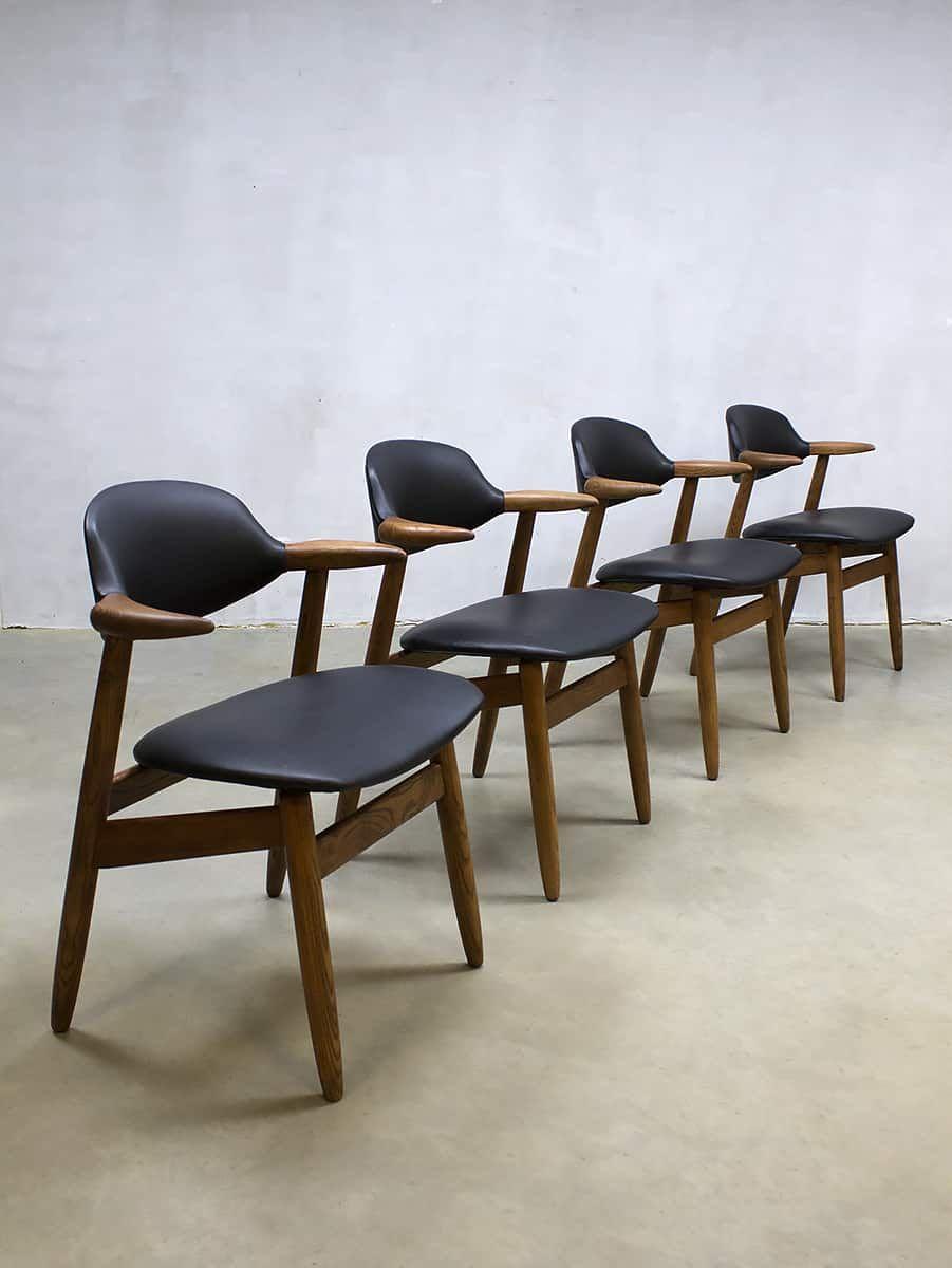 Vintage Design Eetkamerstoelen.Midcentury Vintage Design Koehoorn Stoelen Cowhorn Chairs