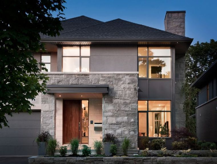 maison en pierre moderne maison design