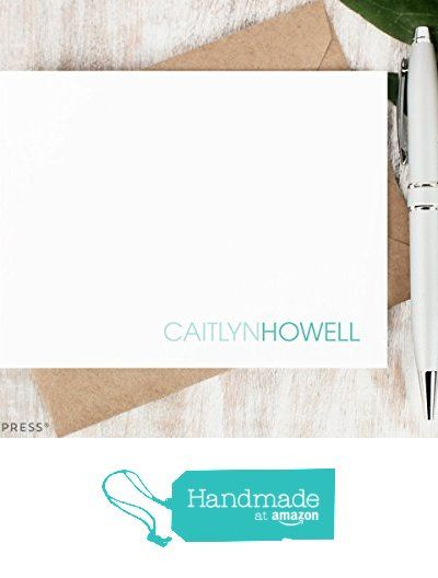 Two tone personalized stationery set professional monogrammed two tone personalized stationery set professional monogrammed simple business womens note cards custom reheart Images