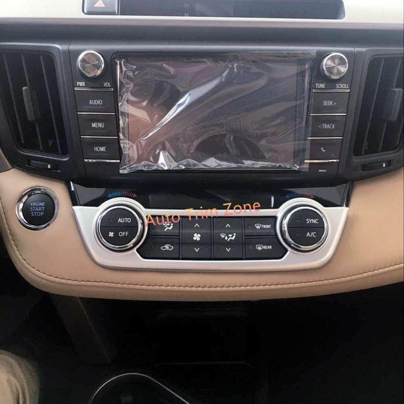Abs Matt Front Center Ac Adjustment Buttons Cover Trim For Toyota Rav4 2013 2017 Interior Accessories Toyota Rav4 Toyota