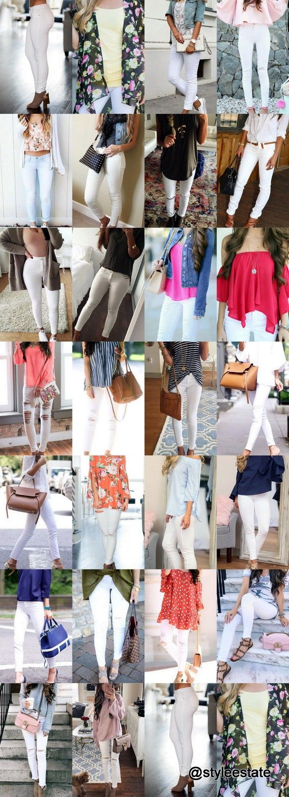 10e115e5dd0 60 White Skinnies Outfits You Will Want To Pin ✅ — Style Estate ...