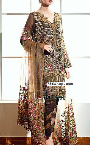 f3e2d4e1ba Chocolate Chiffon Suit | Buy Baroque Fashion Dress | Dresses ...