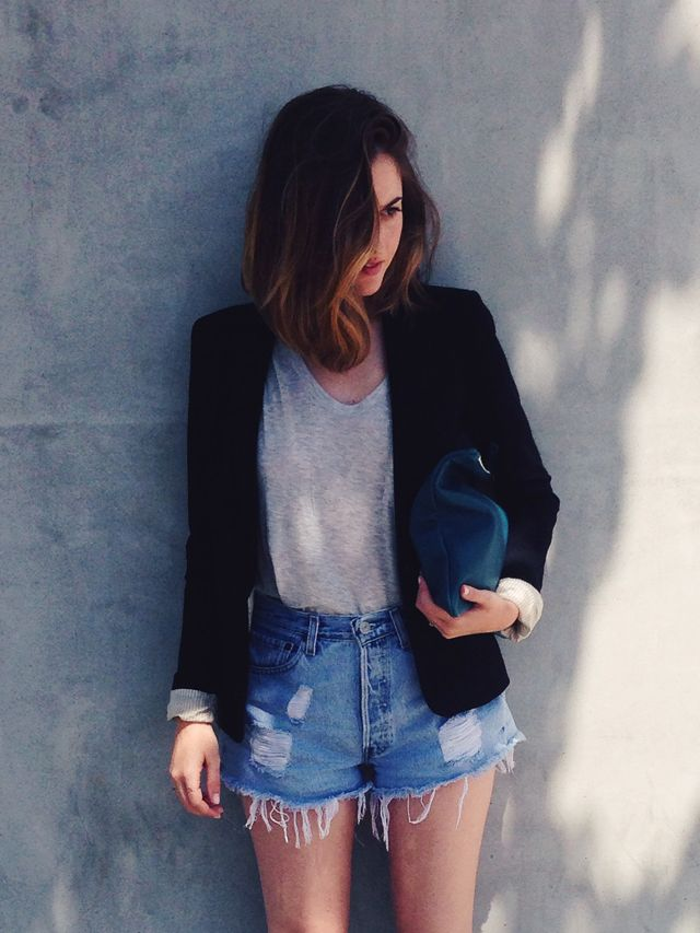 ca82f336 Pin by Maria Brogueira on I don't design clothes. I design dreams |  Pinterest | Blazers, Beach hair and Shorts