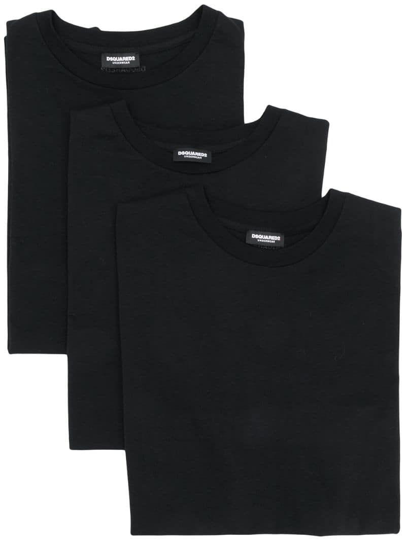 Dsquared2 pack of 3 basic T shirts Black | Basic tshirt