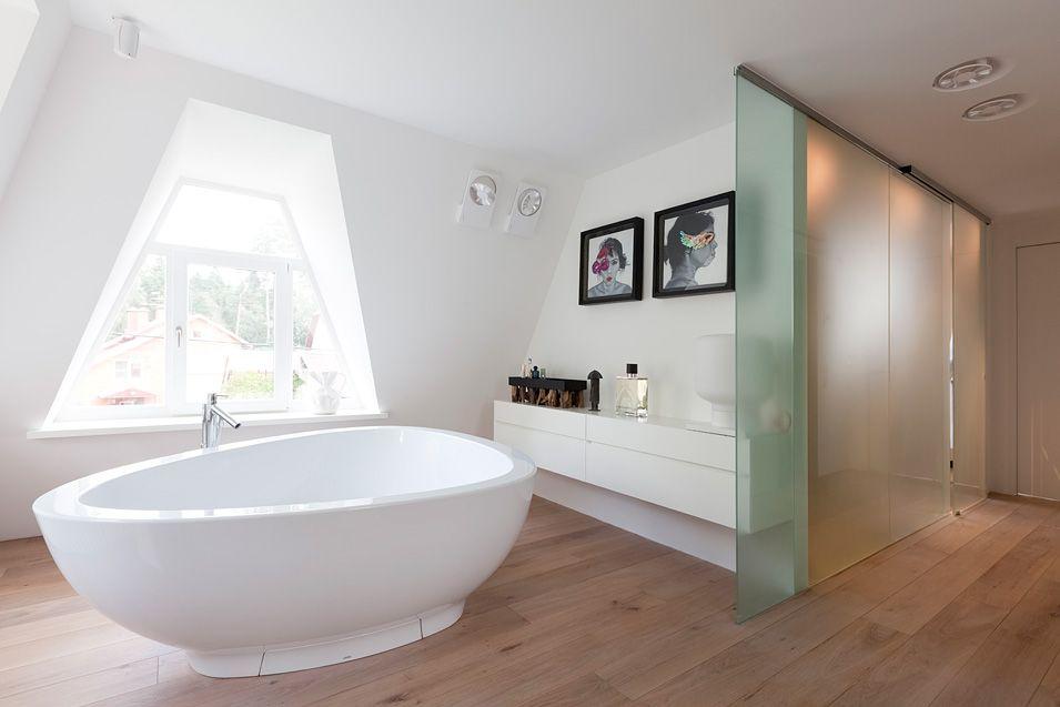 Moderne badkamer #Homelab #renovatie #3D #modern #wit - glastür für badezimmer