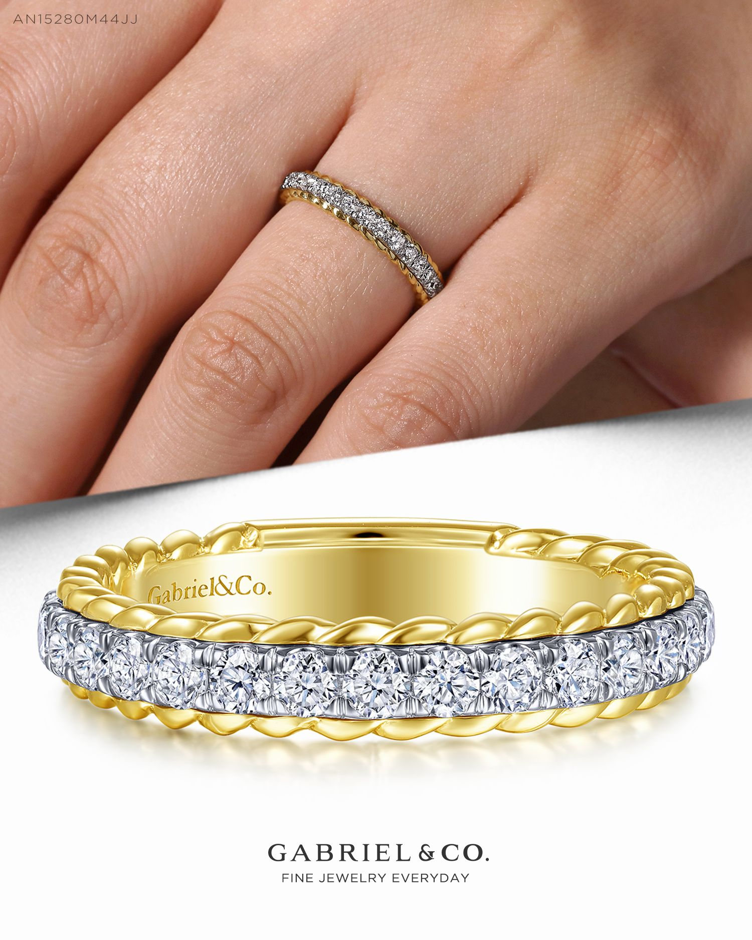 Anniversary Band Stackable Rings For Women Dainty Rings Solid Natural Diamond Band 14K Yellow Gold 0.20CT Handmade Wedding Band Gift