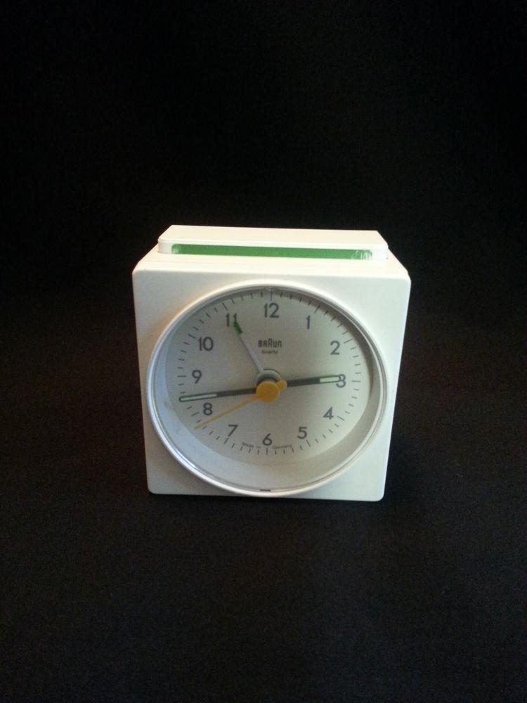 Off White Braun Ag Quartz Travel Alarm Clock Type 4746 Ab1 Made In Germany Travel Alarm Clock Alarm Clock Braun Dieter Rams