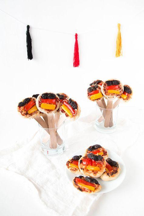 Pizza Pops in Deutschland-Farben - der perfekte Snack für die WM-Party | ars textura – DIY-Blog