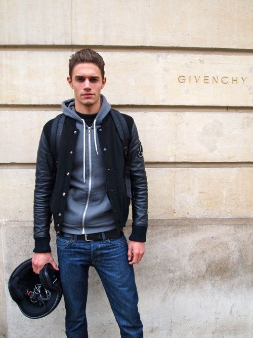 Leather Jacket Over A Simple Hoodie Is A Perfect Fall Look Men S
