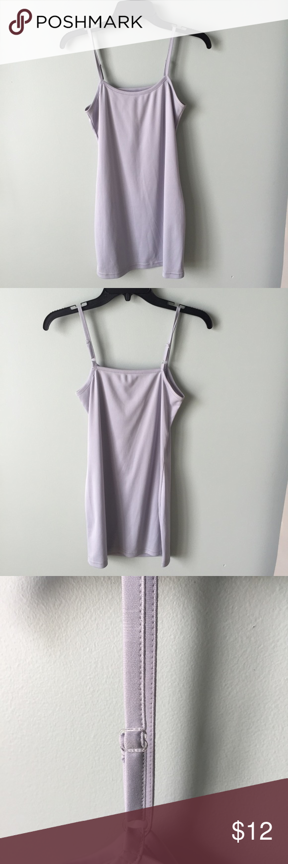 Slip gray blue slip in perfect condition only worn once with adjustable straps Dresses