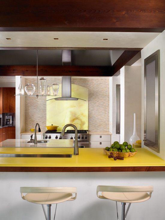 <3 love the colored glass countertop