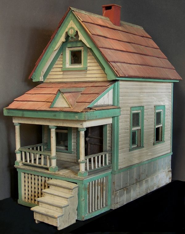 Pin By Viv Eeles On Puppenhaus Vintage Dollhouse Wooden Dollhouse