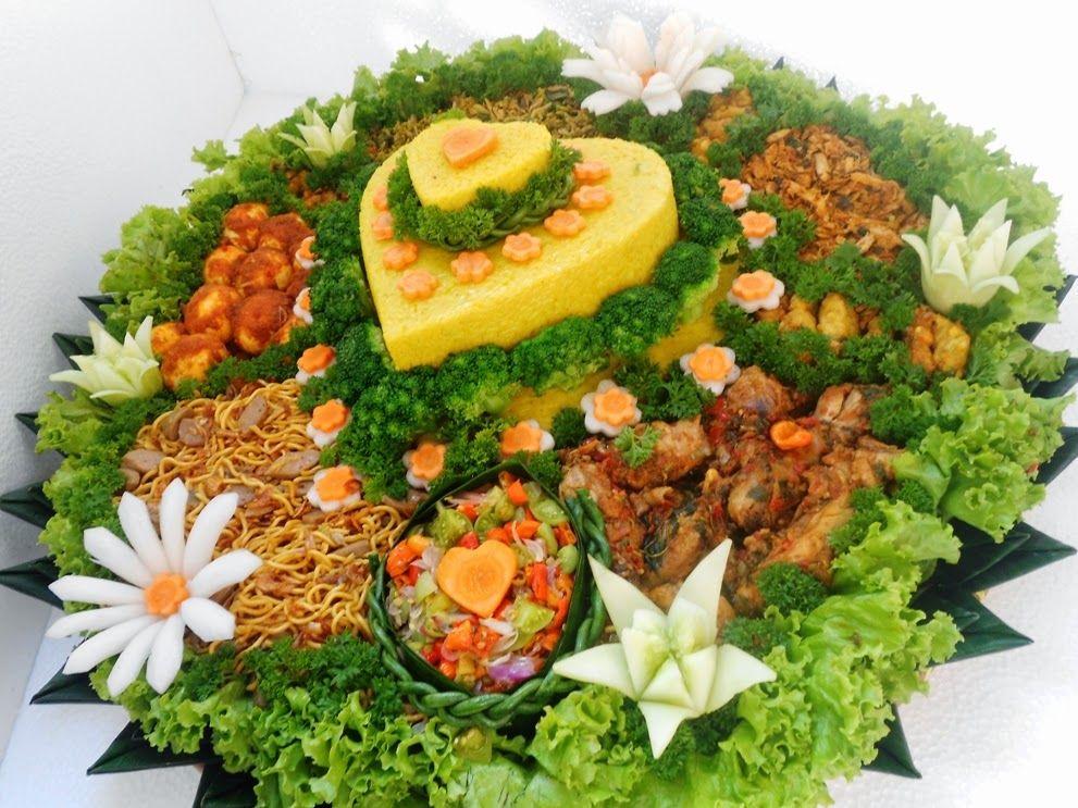 Nasi Tumpeng Pandaan Pasuruan Penyajian Makanan Resep Masakan Indonesia Makanan