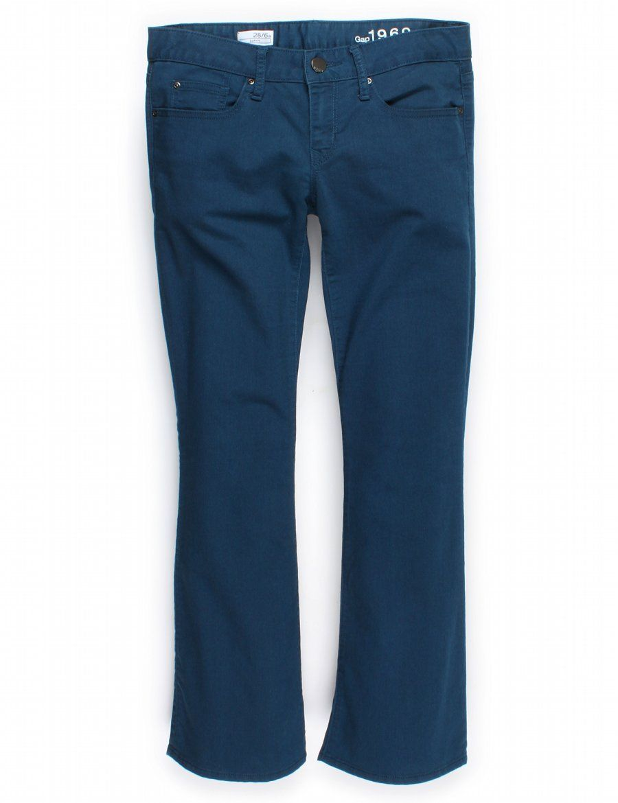 Gap, Blue Curvy Bootcut Pants, Size 28/6A. Priced at $12.00.