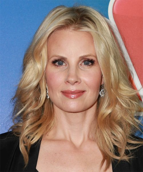Casual Hairstyles Mesmerizing Monica Potter Long Wavy Casual Hairstyle  Medium Blonde Strawberry