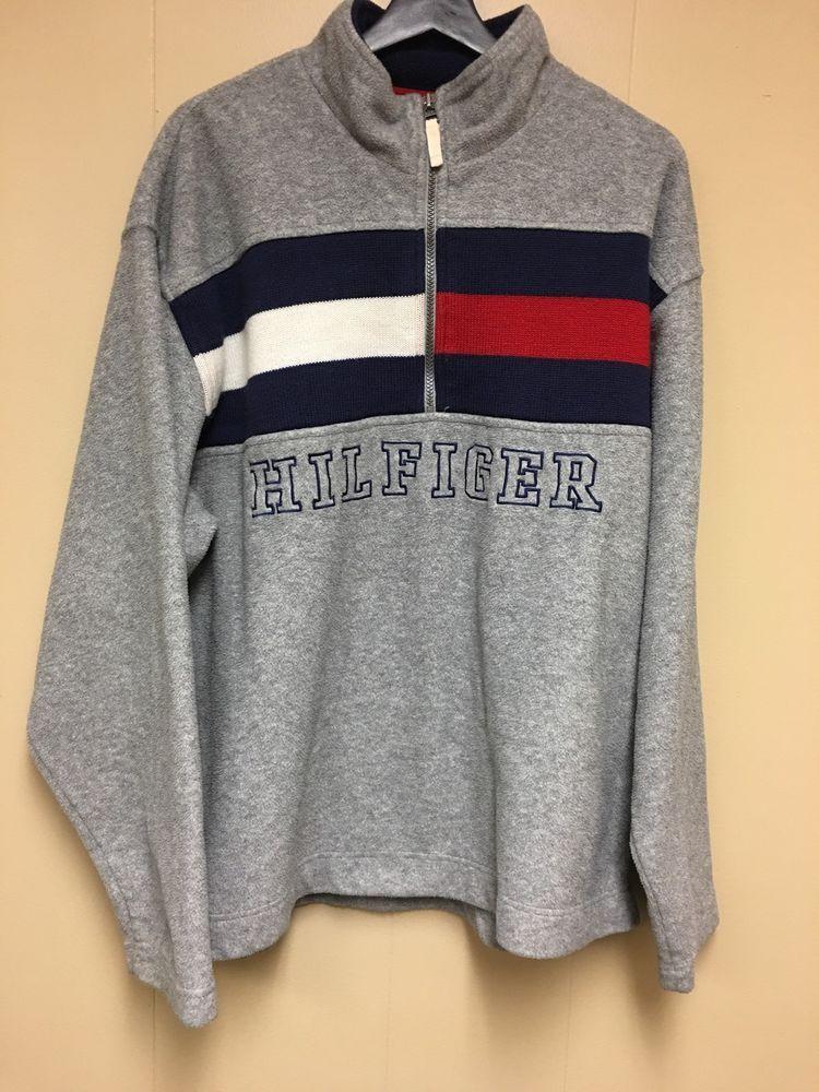 e2840371ac603 Vintage Tommy Hilfiger Fleece Half Zip Sweatshirt