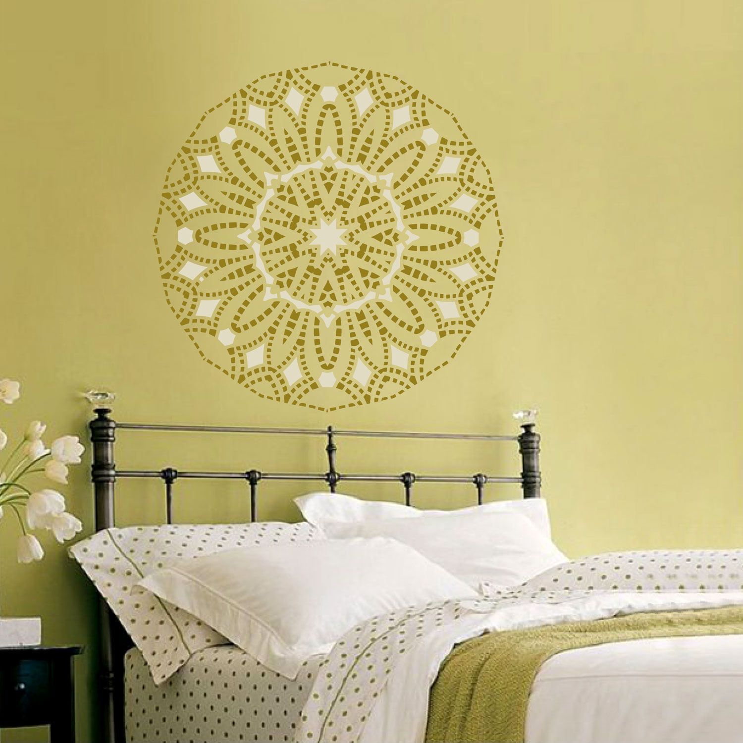 Wall stencil medallion Mandala pattern for DIY Geometric mandala ...