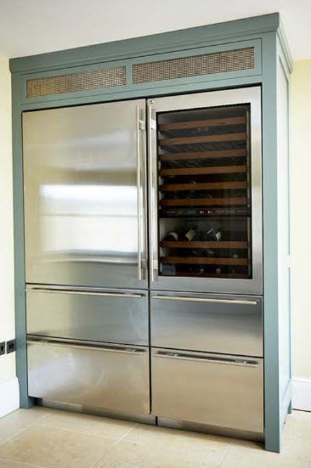 Sub Zero Fridge Freezer Vale Designs Handmade Kitchens