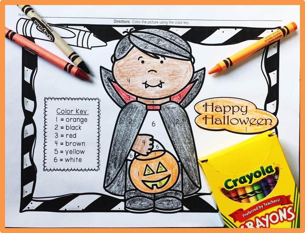Halloween Color Words Kindergarten Fall Activities