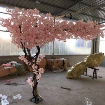 180 Cm Tall Wedding White Imitation Tree Cherry Blossom Tree Client Customise Blossom Tree Wedding Wedding Backdrop Decorations Tree Wedding