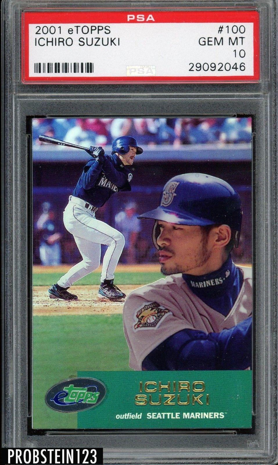 2001 Etopps 100 Ichiro Suzuki Mariners Rc Rookie Psa 10