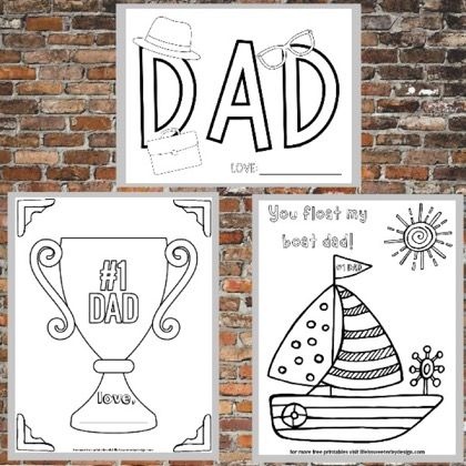 free printable father's day coloring pages  money saving