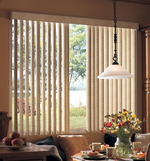 Vertical Center Split Blinds Riverside