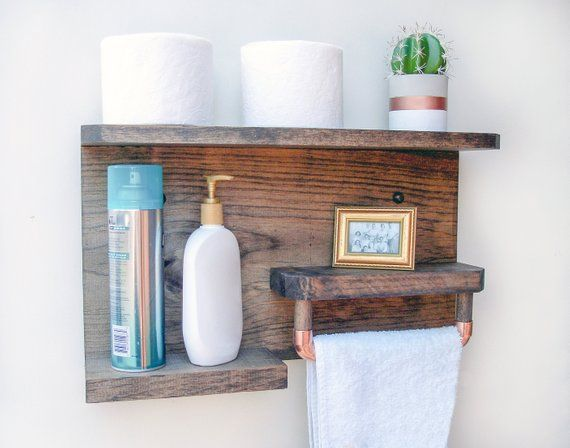 Groovy Bathroom Wall Shelves Rustic Bathroom Towel Rack Shelf For Download Free Architecture Designs Osuribritishbridgeorg
