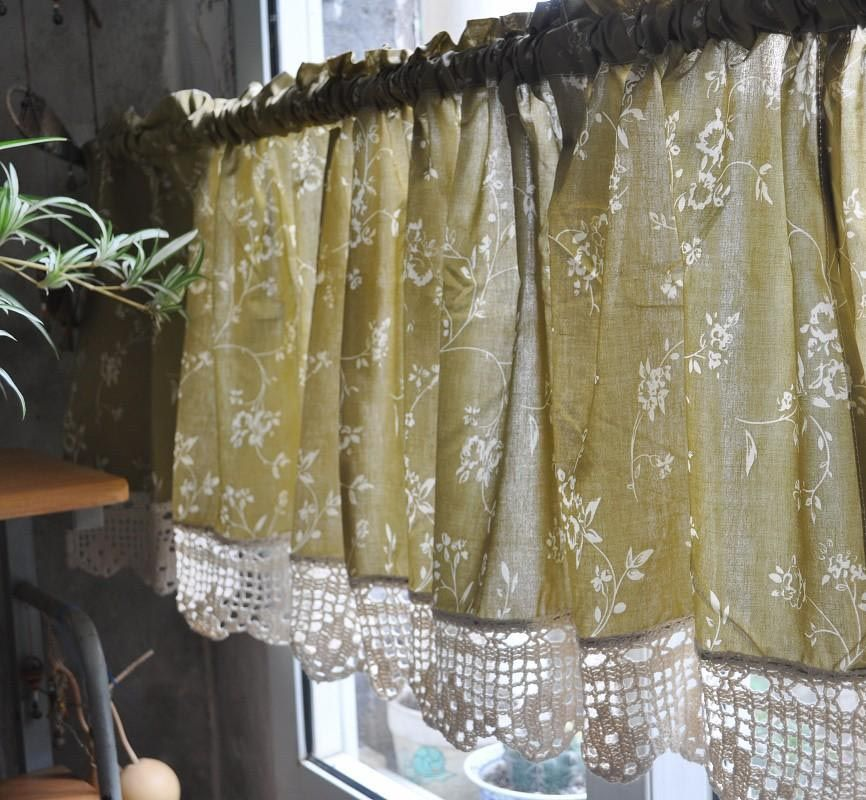 French Country Valance Curtains Country Kitchen Curtains