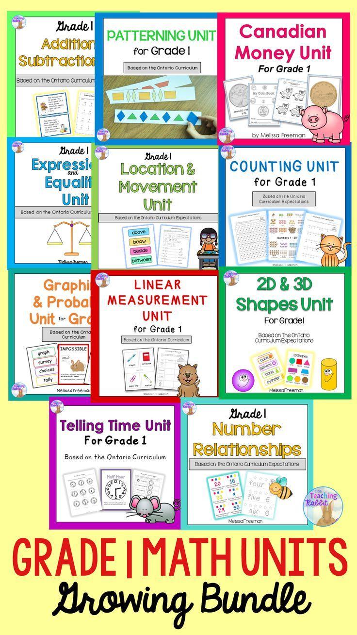Grade 1 Math Units Bundle 1st Grade Math 2nd Grade Math First Grade Worksheets [ 1308 x 736 Pixel ]