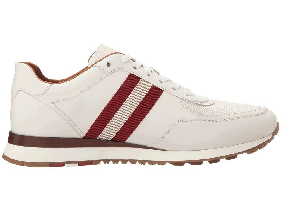 43d9ebf3833d4 Bally Aston Men s Shoes White White Red Bone