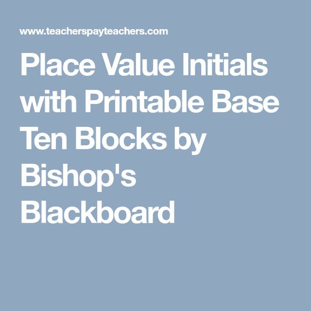 This is a graphic of Revered Printable Base Ten Blocks