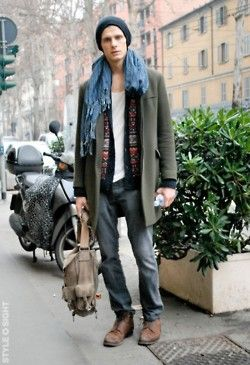 Winter Boho Style Men