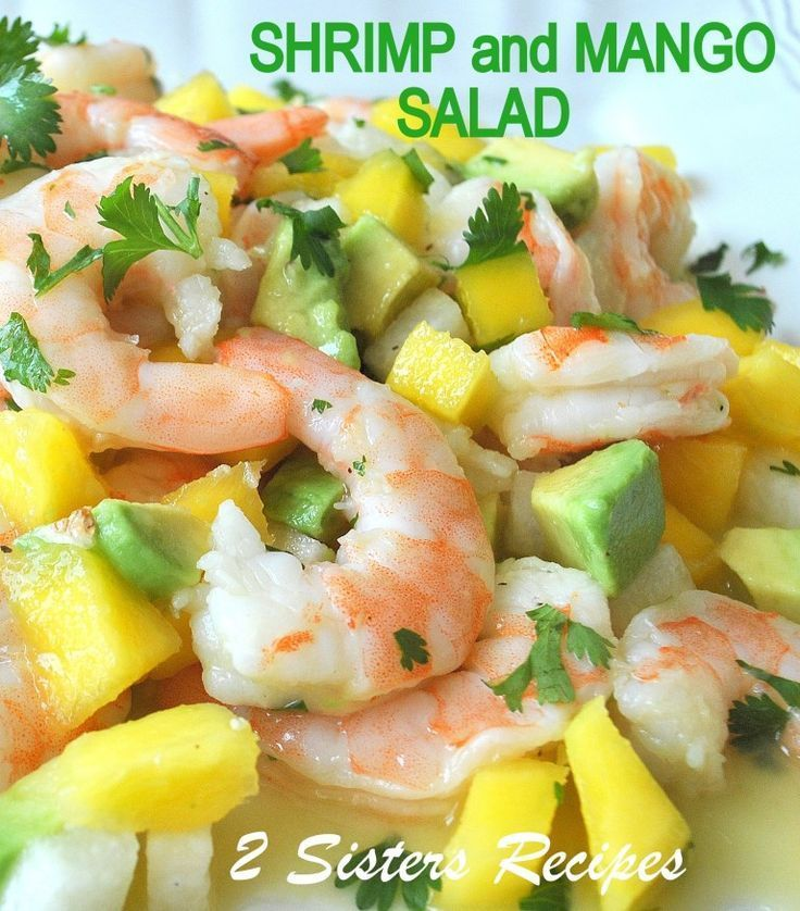 Zesty Lemon Shrimp und Mango-Salat   - Salat Rezepte Gesund -