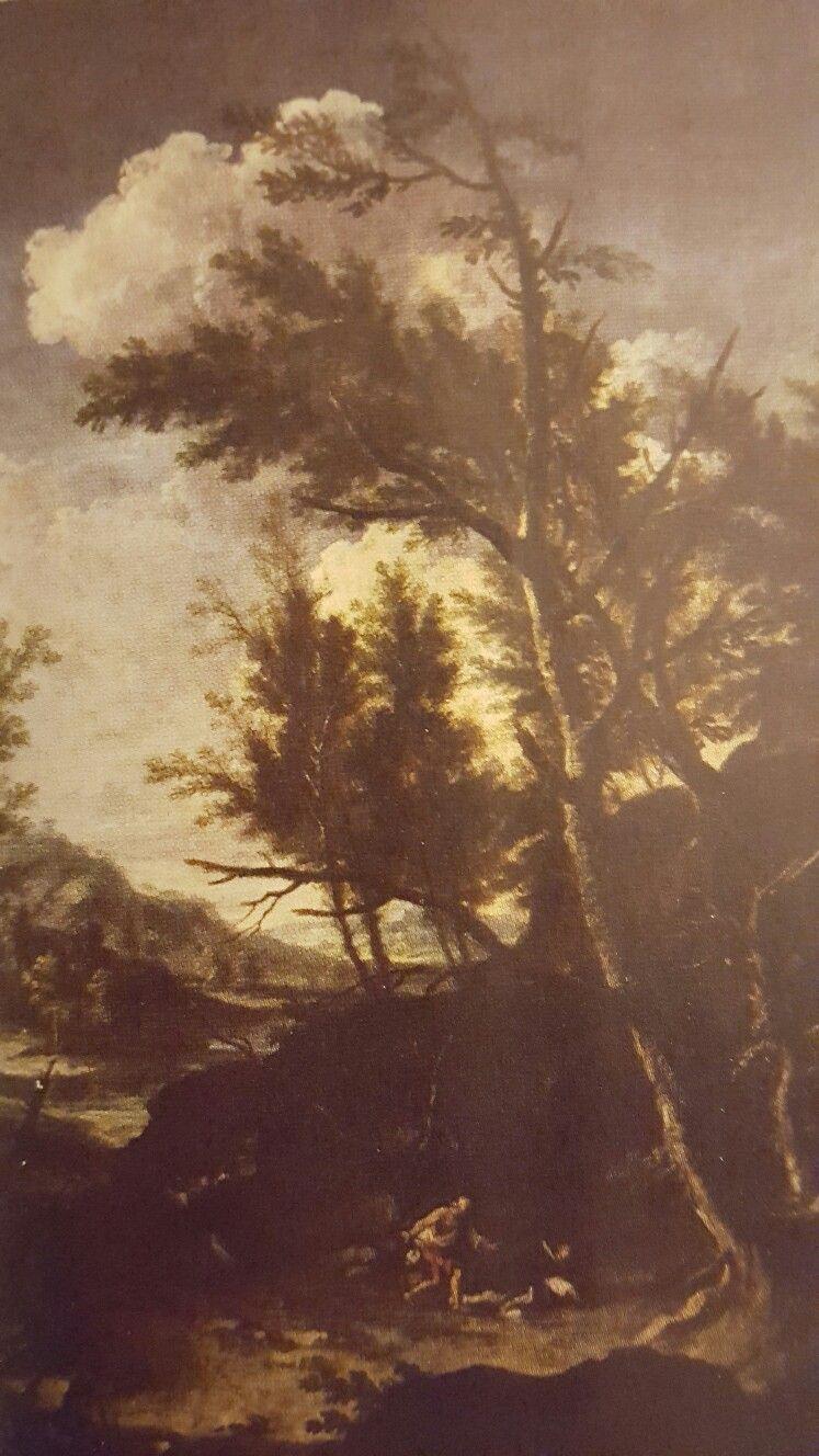 ANTONIO FRANCESCO PERUZZINI. THE MARTYRDOM OF ST. PETER DA VERONA. oil on canvas. 191 × 145,5 cm. Milan. Antichità Giglio.