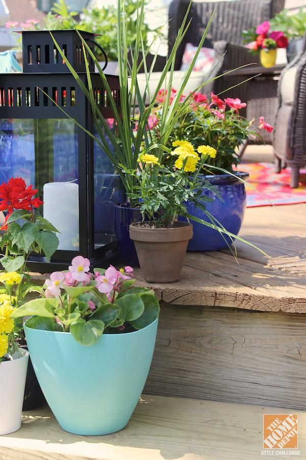 DIY Ideas for a Loud, Laid-Back Patio Makeover - The Home ... on Home Depot Patio Ideas id=18812