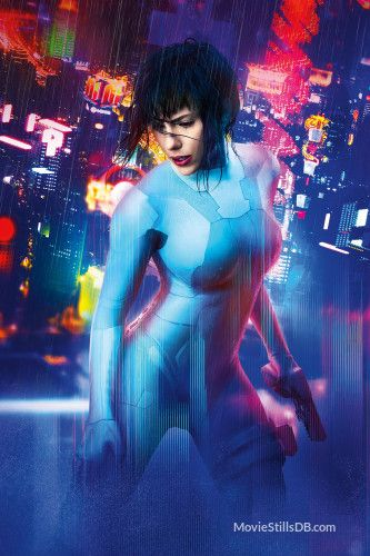 Ghost In The Shell Promotional Art With Scarlett Johansson Ghost In The Shell Scarlett Johansson Ghost Scarlett Johansson
