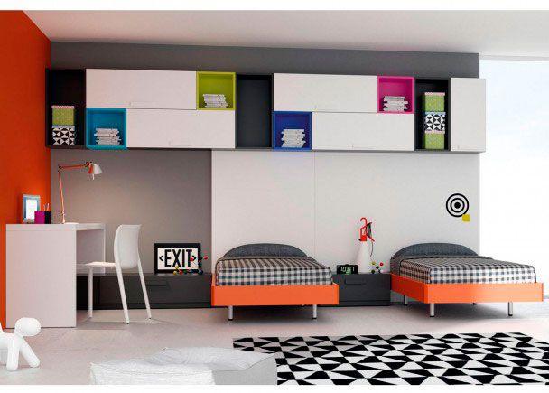 Habitaci n juvenil con 2 camas para 2 hermanos novedades for Habitacion juvenil 2 camas