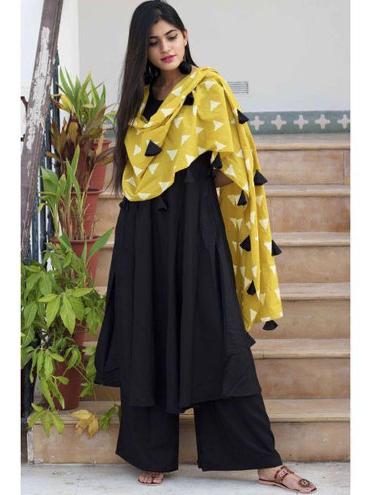 e75c2c166d Indian #Designer #Readymade #Black Salwar Kameez Ethnic Wear #Palazzo  Punjabi Suit #Handmade #SalwarKameez