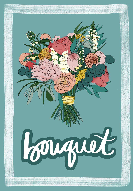 Bouquet French flashcard by Melissa Zahradnicek | French Flashcards ...