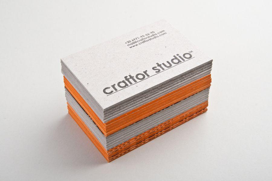 Handmade business cards printed on 2mm cardboard stock. | Craftor ...