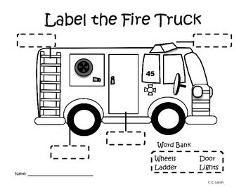 kindergarten transportation theme labeling activity you got schooled pinterest fire. Black Bedroom Furniture Sets. Home Design Ideas