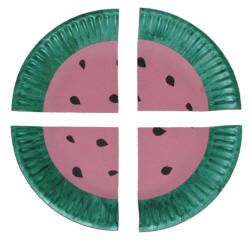 watermelon paper plate craft - can also be used to explain halves and quarters  sc 1 st  Pinterest & watermelon paper plate craft - can also be used to explain halves ...