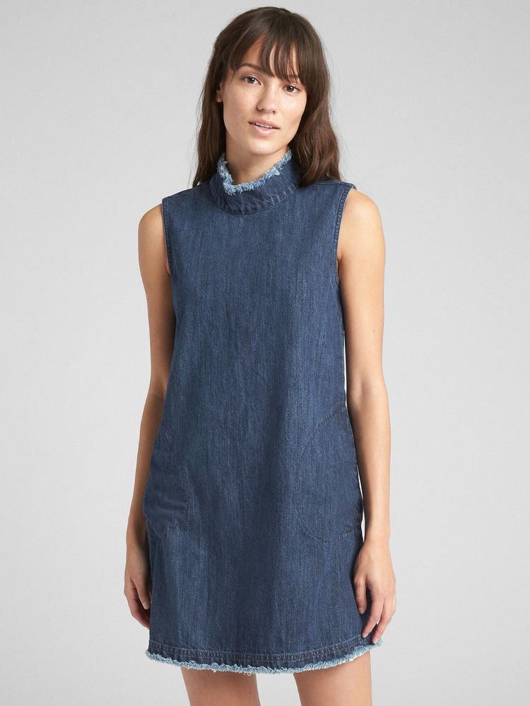 54e14629e41e  DenimDress GAP 357952 SLEEVELESS MOCKNECK SHIFT DENIM DRESS NWT XL TALL -  Denim Dress  59.99 End Date  Monday Dec-10-2018 6 26 45 PST Buy It Now for  only  ...