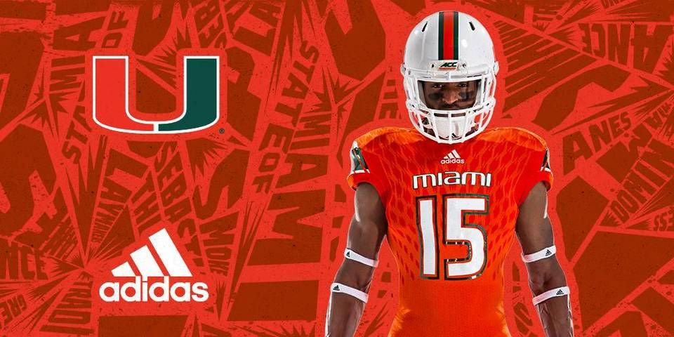The University of Miami and Adidas unveiled the new Hurricanes football  jerseys  caneswear  miamifanwear  UM  TheU  Canesfootball  UMFottball   adidas ... 94a7001f9